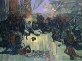 John Minton: The Death of Nelson, 1952. Oil on canvas, Royal College of Art