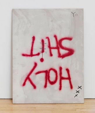 DAN COLEN: HOLY SHIT, 2006. Oil on plywood, 48 × 36 inches (121.9 × 91.4 cm). Photo: Rob McKeever
