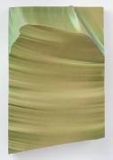 PIERO GOLIA: Intermission painting #8 green to purple, 2014. EPS foam, hard coat and pigment, 75 × 48 1/2 × 14 1/2 inches (190.5 × 123.2 × 36.8 cm)