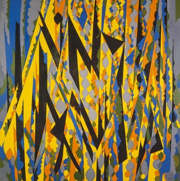Broken Yellow, 1967. Oil on canvas, 182.9 x 182.9 cm, National Galleries of Scotland
