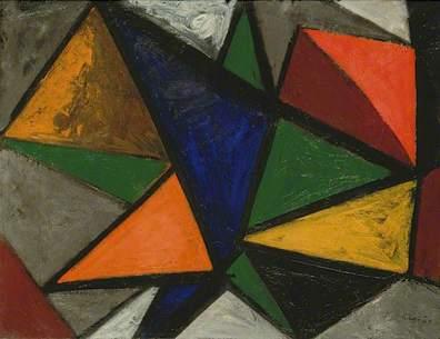 Composition Blue Centre, 1949, oil on canvas, 50 x 65 cm, TownerFoundation