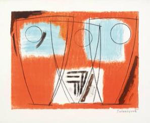 Barbara Hepworth, Three Forms, 1969, lithograph. Wakefield Council Permanent Art Collection.