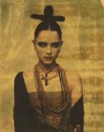 Tasha, Paris 1997. Original Polaroid 891 Transparent Film with applied gold leaf and laminate, 9 1/2 x 7 1/2 in.