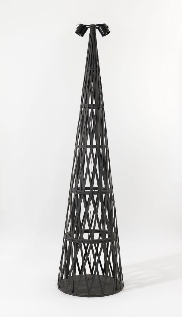 Talk Tower for Ingrid Jonker, 2012. MFD, speakers, sounds, lightjet print mounted on aluminium. Installation dimensions variable (detail)