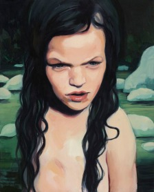 Magali Cazo: Sauvageonne, 2014. Oil on board, 500 x 400mm