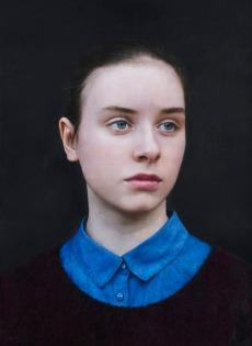 Michael Gaskell: Eliza, 2015. Acrylic on board,370 x 270mm