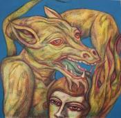 The Devil's Prize. Mixed media, 56cm x 56cm