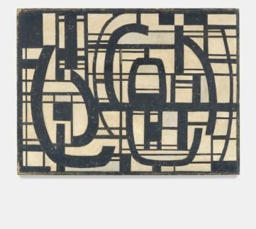 Wifredo Arcay: Sin Título (Untitled), 1957.Oil on canvas on masonite,21 1/8 x 28 1/8 x 1/8 inches (53.5 x 71.2 x 0.3 cm)