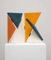 Sandú Darié: Sin Título, Estructura Transformable (Untitled, Transformable Structure), ca. 1950s. Oil on hinged wood elements. Dimensions variable