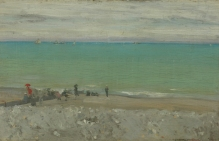 La Plage, Dieppe, c.1885. Manchester City Galleries