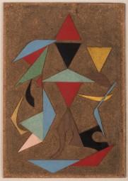 Alberto Menocal: Proyecto No. 2 (Project No. 2), 1958. Formica collage on masonite,15 3/4 x 10 1/4 inches (40 x 26 cm)