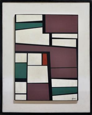 José Mijares: Sin Título (Untitled), ca. 1950s.Oil on wood,27 x 19 7/8 inches (68.5 x 50.5 cm)