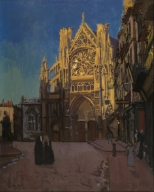 The Façade of St Jacques, Dieppe, 1902. Private collection