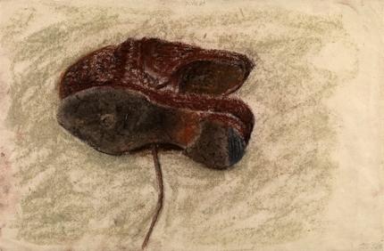 Shoes, 1984. Pastel on paper, 31.8 x 47.6 cm