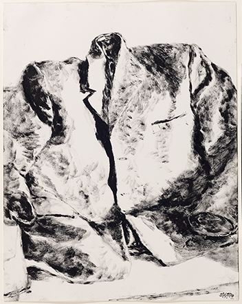 The Jacket , 1972. Sumi ink on paper, 35.5 x 27.8 cm