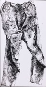 Trousers, 1974. Sumi ink on paper, 43.7 x 23 cm