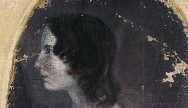 Part of the portrait of Emily Brontë by Patrick Branwell Brontë, oil on canvas, arched top, circa 1833, 21 1/2 in. x 13 3/4 in. (546 mm x 349 mm)