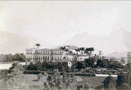 "Palace of São Cristovão (""the old imperial palace""), c. 1893/4, photographed by Juan Gutierrez"