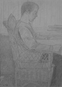 Mike, May 1996, pencil on paper