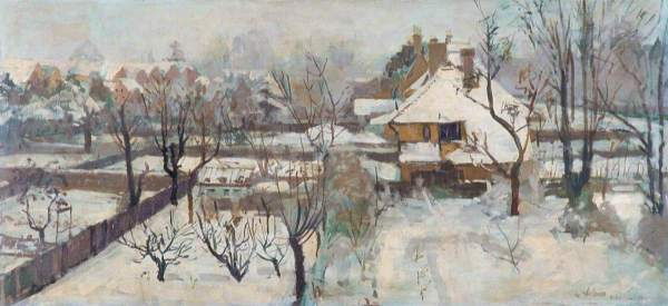 Snow in the Suburbs, Peter Midgley (1921–1991)